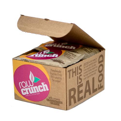 Raw Crunch Bars - Organic Cranberry - 12 Bars