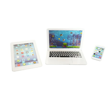 My Brittany's  White Laptop, Tablet, and Smart Phone for American Girl Dolls and My Life as Dolls- 18 Inch Doll Clothes Accessories for American Girl Dolls ()