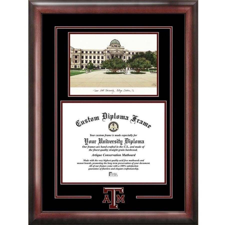 """Texas A&M Aggies 11"""" x 14"""" Spirit Graduate Diploma Frame"""