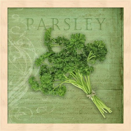 Metaverse R962189-0120000-AEAAAACAN4 13.25 x 13.25 in. Classic Herbs Parsley Framed Wall Art by Cora Niele - image 1 of 1