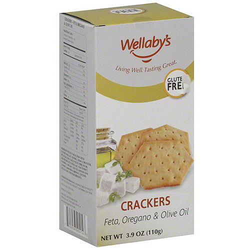 Wellaby's Feta Oregano & Olive Oil Crackers, 3.9 oz (Pack of 6)