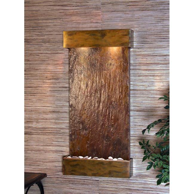 Adagio WCS1004 Whispering Creek Rustic Copper Multi-Color Natural Slate Wall Fountain