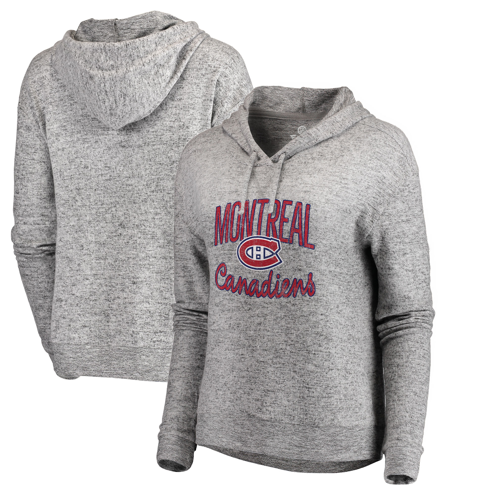 Montreal Canadiens Let Loose by RNL Women's Cozy Collection Steadfast Pullover Hoodie - Ash