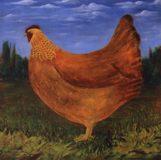 Country Chicken Poster Print by Dotty Chase (12 x 12)