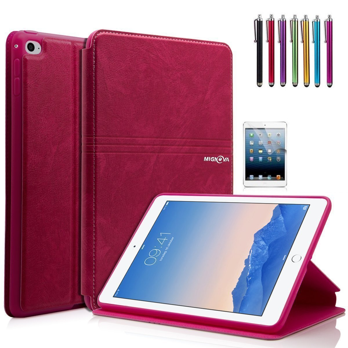 Mignova iPad Mini 4 Case - Ultra Slim Lightweight Smart Stand Cover Case With Auto Wake / Sleep for Apple iPad Mini 4 (2015 edition) 7.9 inch Tablet (2nd Pink)