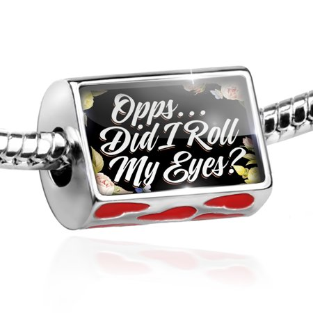 Bead Floral Border Opps...Did I Roll My Eyes? Charm Fits All European Bracelets