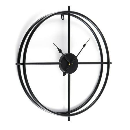 Large Iron Wall - 18/24inch Oversize Large Modern Art 3D Round Metal Wall Clock Iron Mute Watch Home Office Decor Gold Black