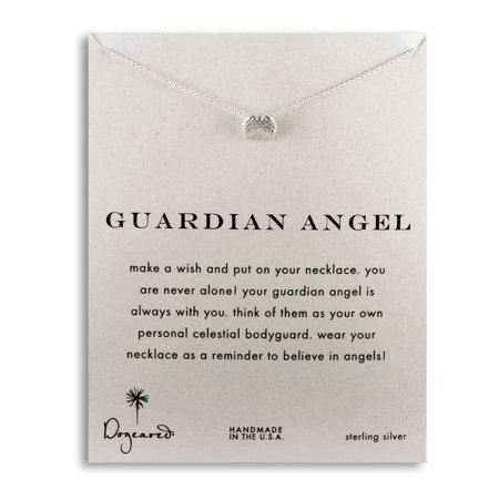Guardian Angel Wings Sterling Silver Necklace - Guardian Angel Necklace