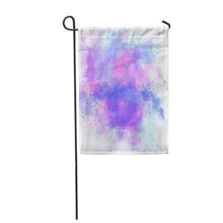 JSDART Purple Brush Abstract Colorful Watercolor Painting for Blue Artistic Blot Garden Flag Decorative Flag House Banner 12x18 inch - image 1 of 1