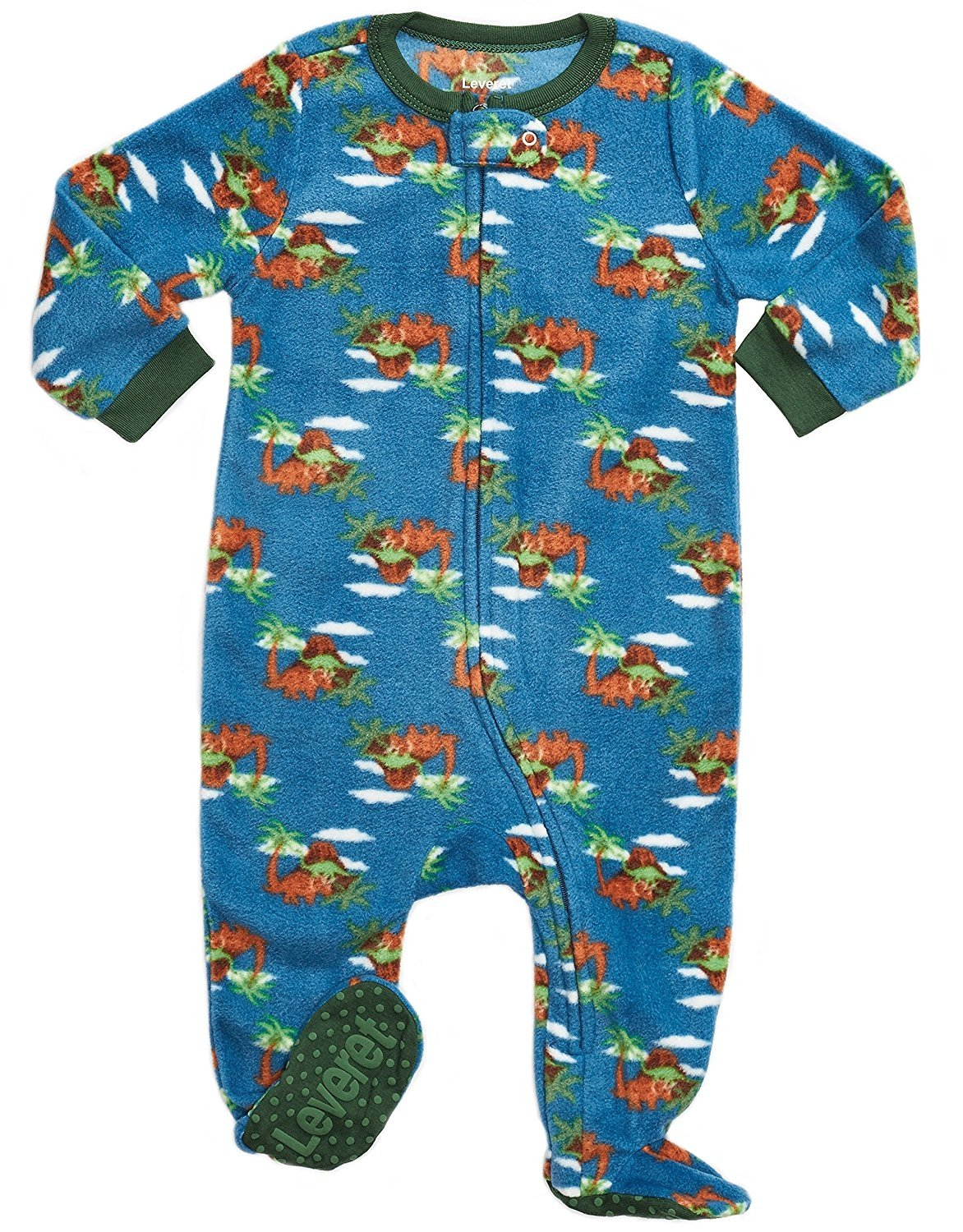 Leveret Baby Boys Wolf Fleece Footed Sleeper Pajama Size 6M-5T