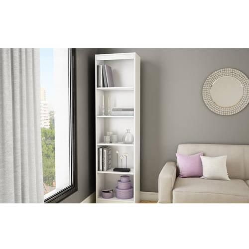 South Shore Smart Basics 5-Shelf Narrow Bookcase, Multiple Finishes