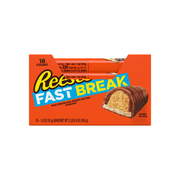 Reese's Fast Break, Peanut Butter & Nougat Milk Chocolate Candy Bar Box, 1.8 Oz., 18 Ct.