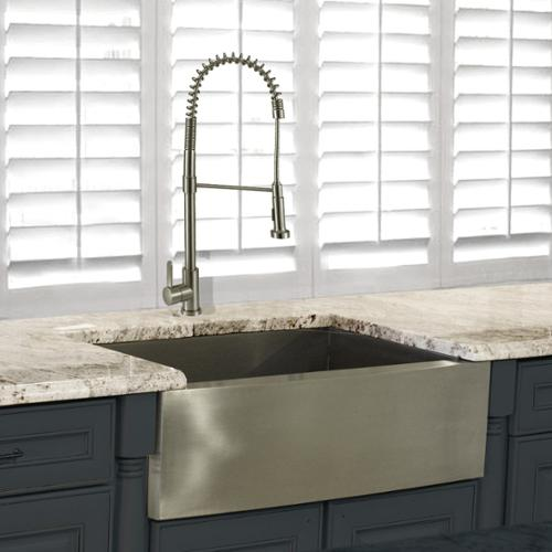 Highpoint Collection 30 Inch Stainless Steel Apron Sink Wth Faucet