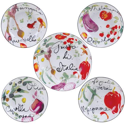 Fleur De Lis Living Lavonne 5 Piece Pasta Bowl Set by