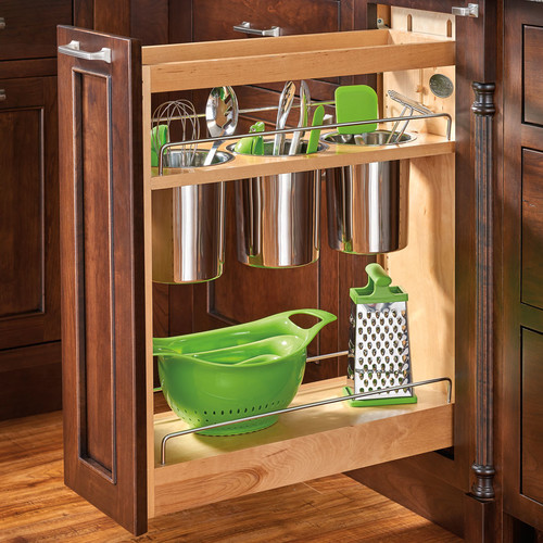 kitchen utensils storage cabinet rev a shelf 8 pull out cabinet utensil organizer 22115