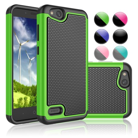 brand new e1198 aefab ZTE Blade Vantage Case, ZTE Tempo X Case, ZTE Avid 4 Sturdy Case, Njjex  Double Layer Shock Absorption Full-Body Protection Anti-slip Silicone  Rubber ...