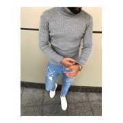 Men Slim Fit Turtleneck Sweaters Autumn Winter Warm Pullovers Knitted Sweaters Knitwear Jumpers