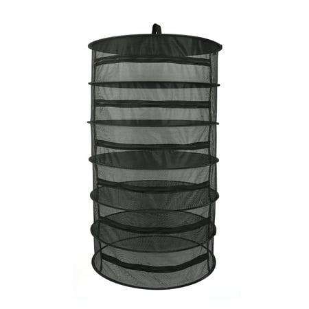 Hanging Basket 6 Layers with Zipper Folding Dry Rack Herb Drying Net Dryer Bag Mesh For Herbs Flowers Buds Plants