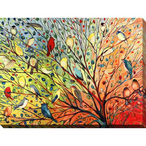 Picture Perfect International Jennifer Lommers '27 Birds' Giclee Print Canvas Wall Art