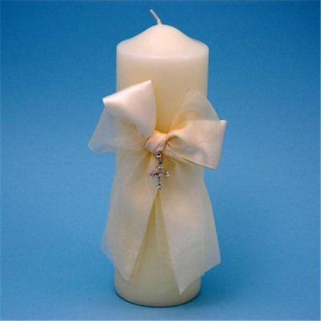 Ivy Lane Design 38PIT Grace Pillar Candle in Ivory