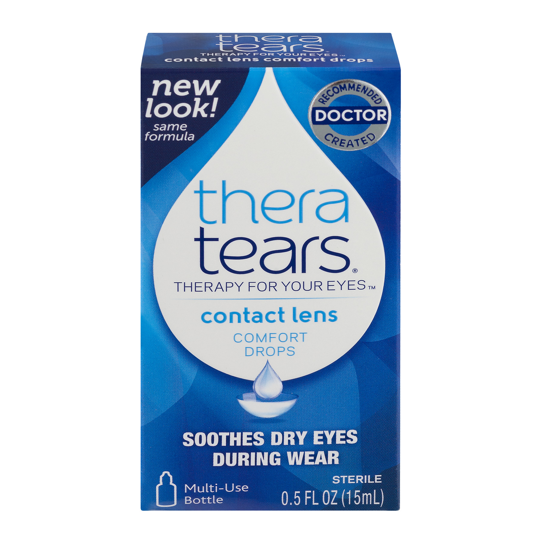 Thera Tears Contact Lens Comfort Drops, 0.5 FL OZ