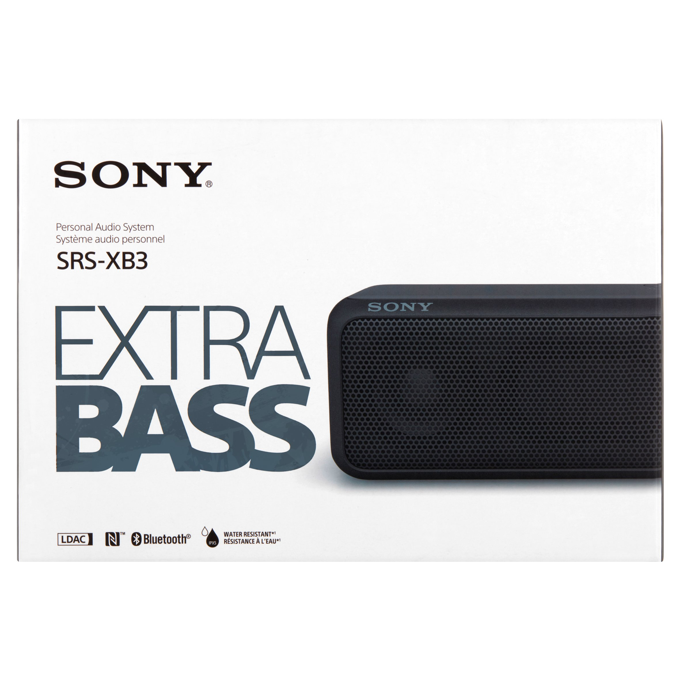 Sony SRSXB3/BLK SRS-XB3 Hi-Res Portable Wireless Speaker Black