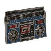 New Old School Boom Box Hip Hop Ghettoblaster Metal Belt Buckle - Chrome