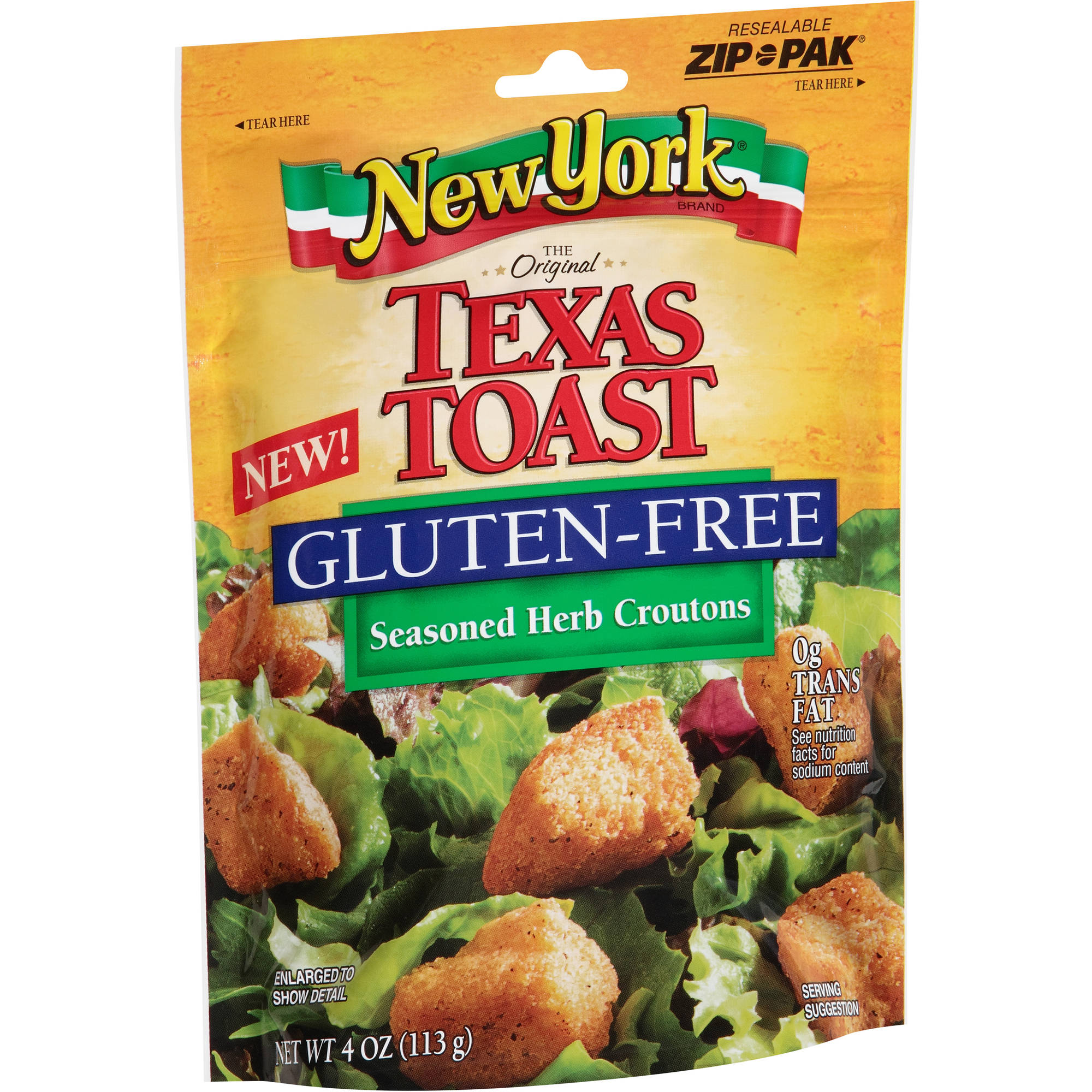 New York Brand Texas Toast Gluten-Free Seasoned Herb Croutons, 4 oz