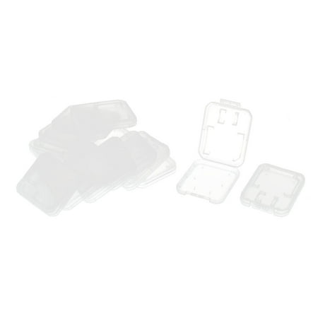 Unique Bargains15Pcs Clear SD MS Micro TF Memory Card Storage Holder Box Case Protector