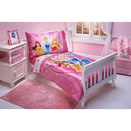 Discontinued disney heart of a princess 4 piece toddler bedding set for Disney princess bedroom furniture