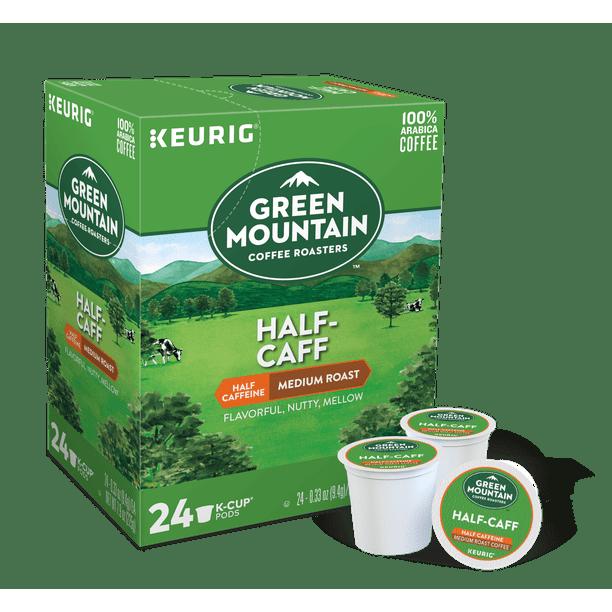 Green Mountain Coffee Roasters Half Caff Coffee Keurig Single Serve K Cup Pods Medium Roast 24 Count Walmart Com Walmart Com