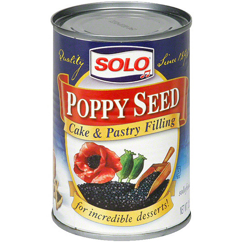 Solo Poppy Seed Cake & Pastry Filling, 12.5 oz (Pack of 6)
