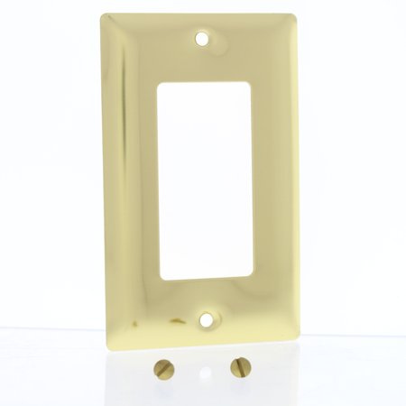 Pass & Seymour Polished Brass 1G Decorator GFCI GFI Cover Wallplate SB26-PBCC25 ()