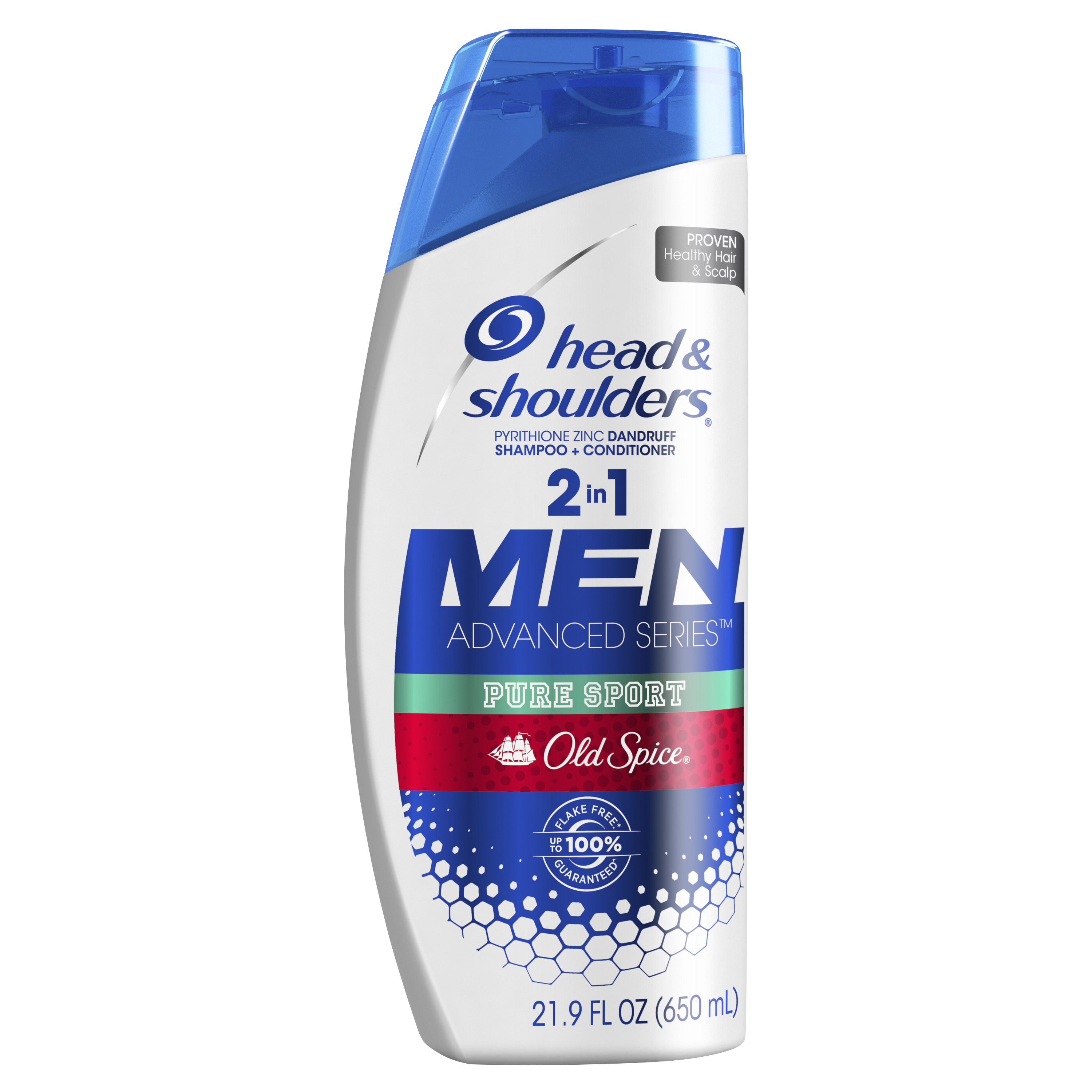 Head and Shoulders Old Spice Pure Sport Dandruff 2 in 1 Shampoo and Conditioner, 21.9 fl oz