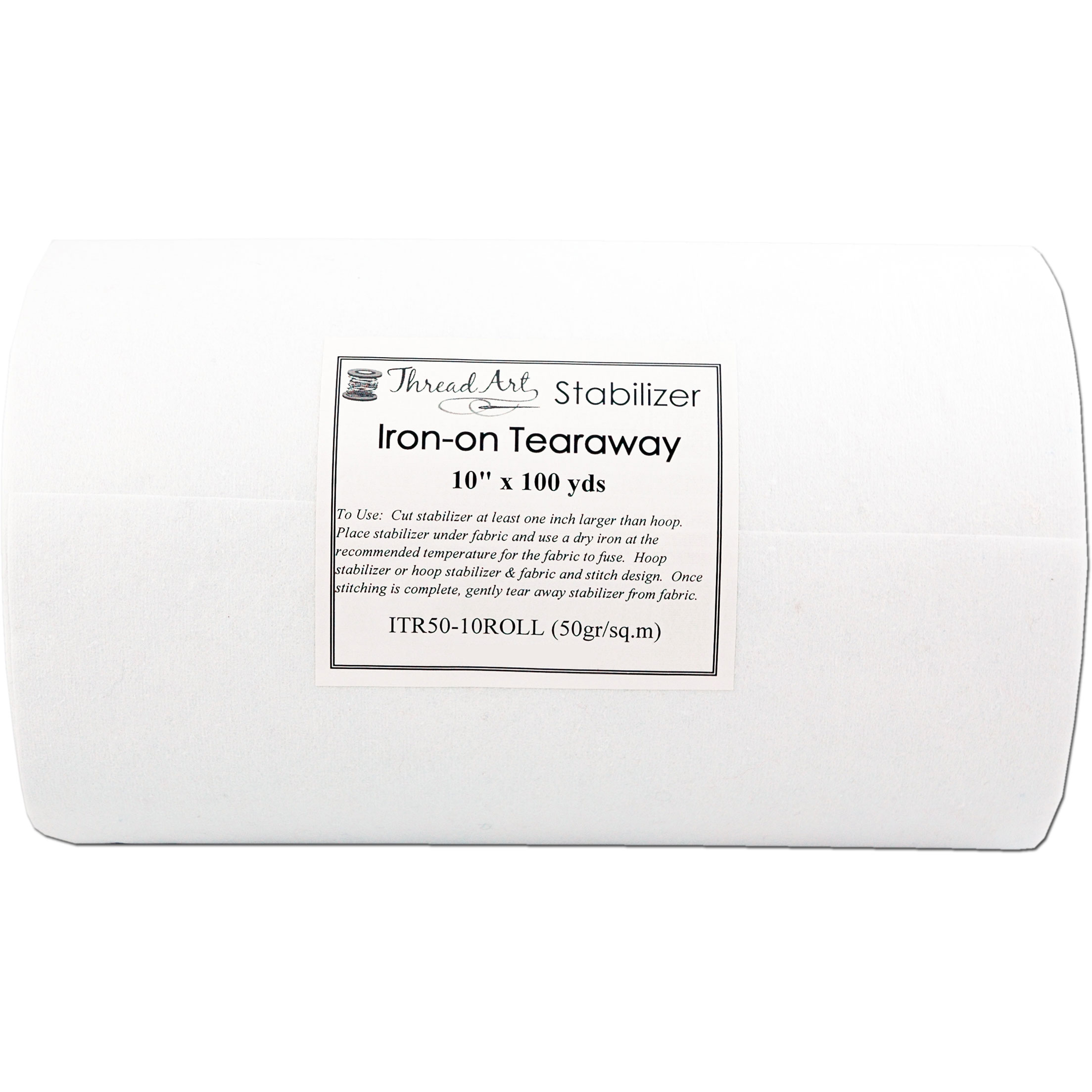 Tear Away Embroidery Stabilizer 1.8 ounce Medium Weight 10 x 100 yd Tearaway For Machine Embroidery