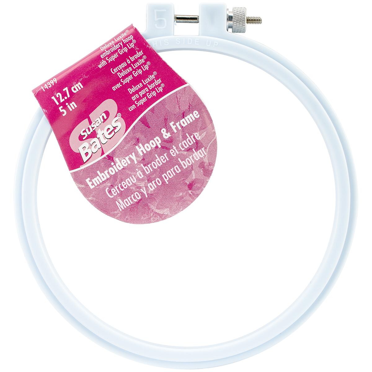 "Bates Plastic Embroidery Hoop - Light Blue-Size 5"""