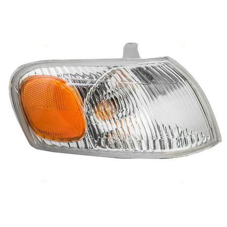 Corner Lights Lens - BROCK Park Signal Corner Marker Light Lamp Lens Passenger Replacement for 98-00 Toyota Corolla 81510-02040