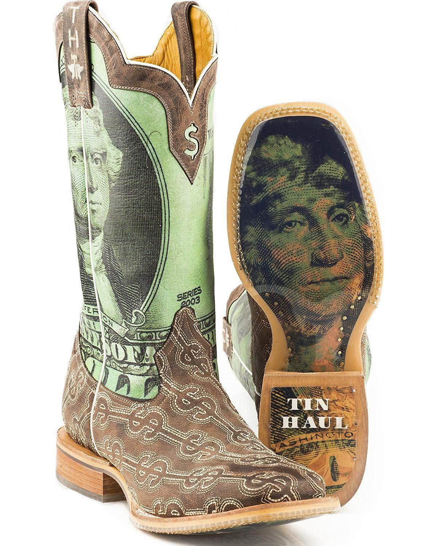 Run Cowboy Boot Square Toe Brown