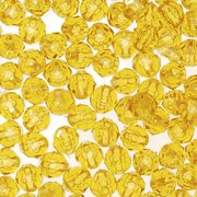 8mm Plastic Faceted Beads: Transparent Sun Gold, 480 pack