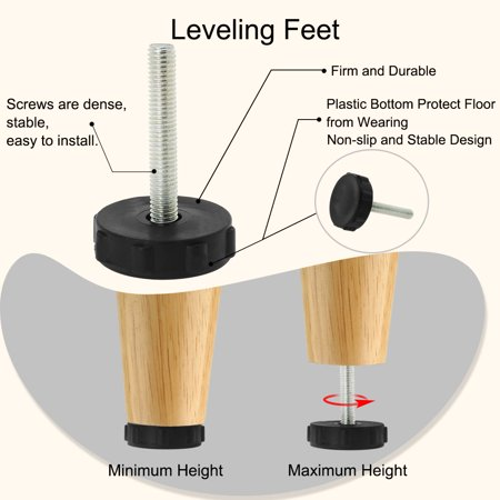 M8 x 50 x 40mm Leveling Feet Adjustable Leveler Floor Protector for Table 2pcs - image 4 of 7