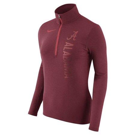 Alabama Crimson Tide Nike Women's Dry Element Quarter-Zip Pullover Jacket - Heathered Crimson ()