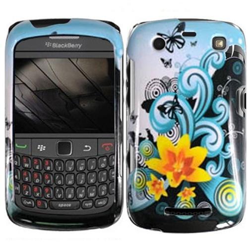 Insten For Blackberry Apollo Curve 9350 9360 9370 Design Case - Yellow Lily