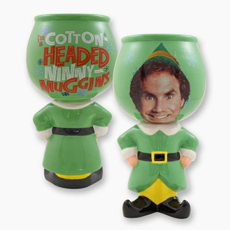 Elf the Movie Buddy Badge Standing Molded Goblet](Elf On The Shelf Green)