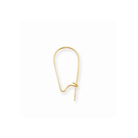 14k Yellow Gold .027 Inch Kidney Wire Component