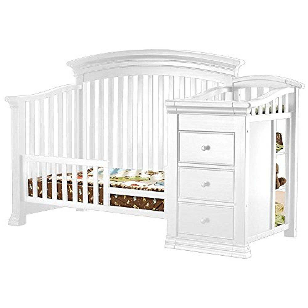 Sorelle Verona Crib and Changer Toddler Rail - French White