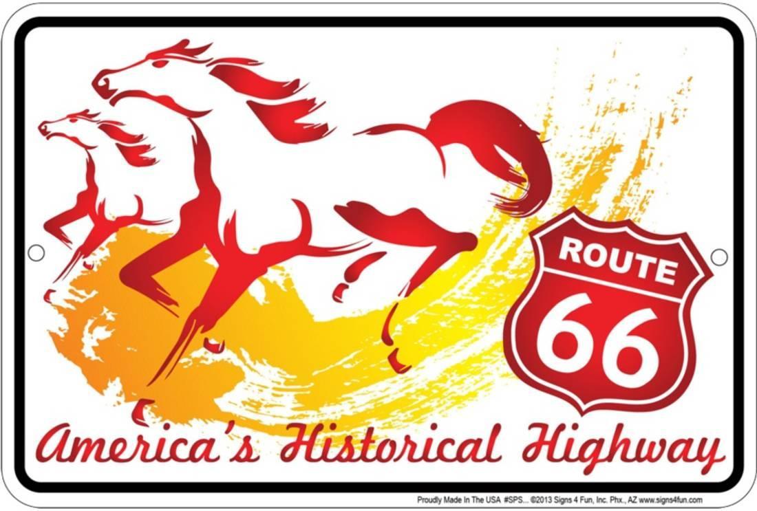 Route 66 the Horse Tin Sign - 12x8 - Walmart.com