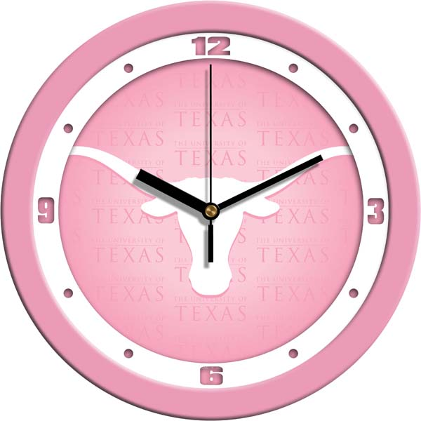 Texas Pink Wall Clock