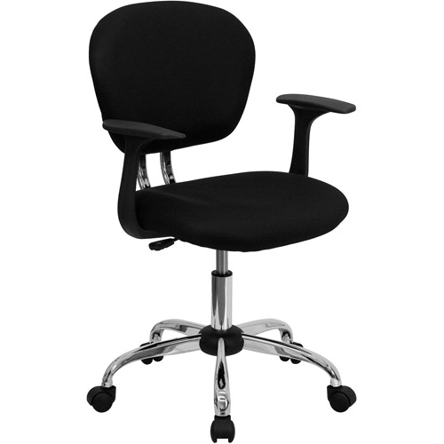 Exceptional Flash Furniture Mid Back Mesh Task Chair With Arms