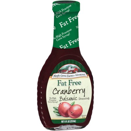 Maple Grove Farms Of Vermont Cranberry Balsamic Dressing  8 Oz  Pack Of 6