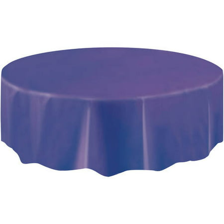 (2 pack) Plastic Round Tablecloth, 84 in, Dark Purple, 1ct - Round Plastic Table Cloths